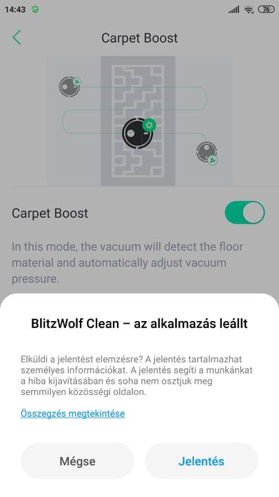 Blitzwolf BW-VC2 robotporszívó teszt 15