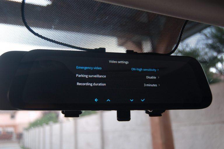 70mai D07 Rearview Dash Cam autóskamera teszt 11