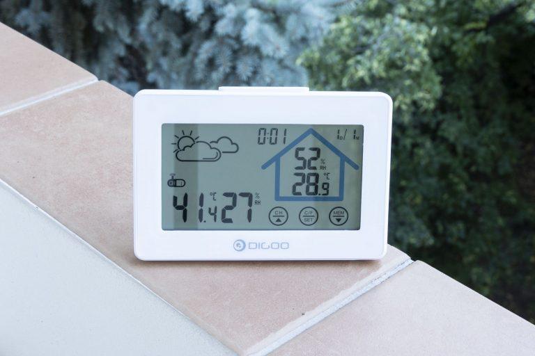 Digoo DG-TH8380 időjárás állomás teszt 8