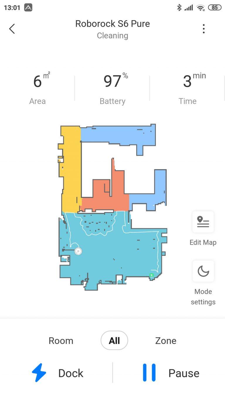 Xiaomi Roborock S6 Pure robotporszívó teszt 23