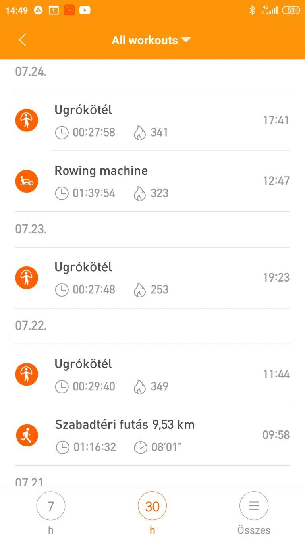 Xiaomi Mi Band 5 aktivitásmérő teszt 31