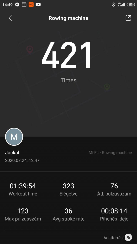 Xiaomi Mi Band 5 aktivitásmérő teszt 33