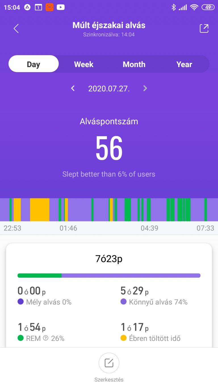 Xiaomi Mi Band 5 aktivitásmérő teszt 41