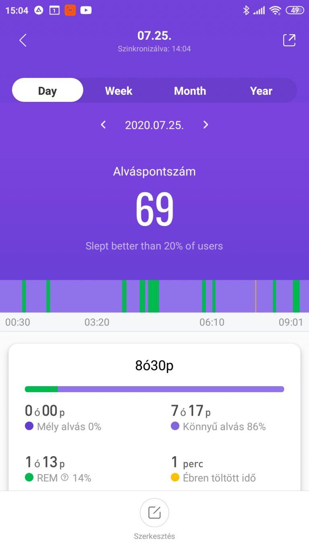 Xiaomi Mi Band 5 aktivitásmérő teszt 42