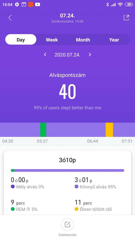Xiaomi Mi Band 5 aktivitásmérő teszt 43