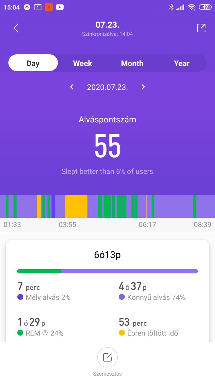 Xiaomi Mi Band 5 aktivitásmérő teszt 44