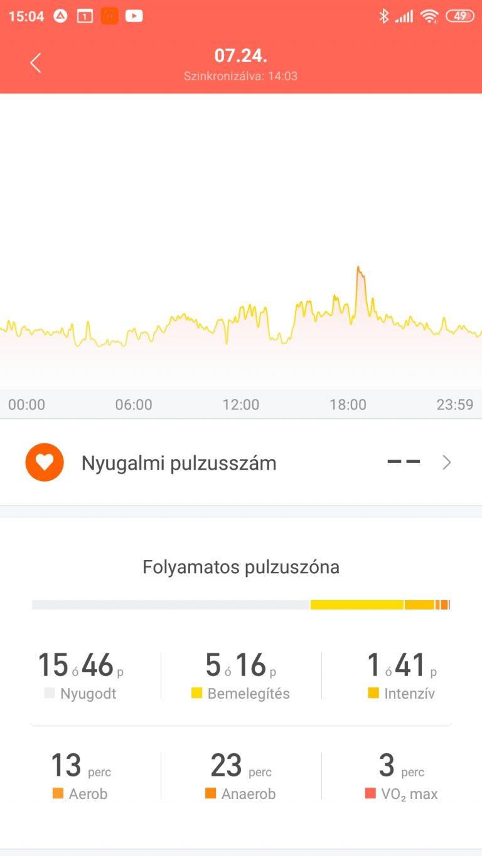 Xiaomi Mi Band 5 aktivitásmérő teszt 37