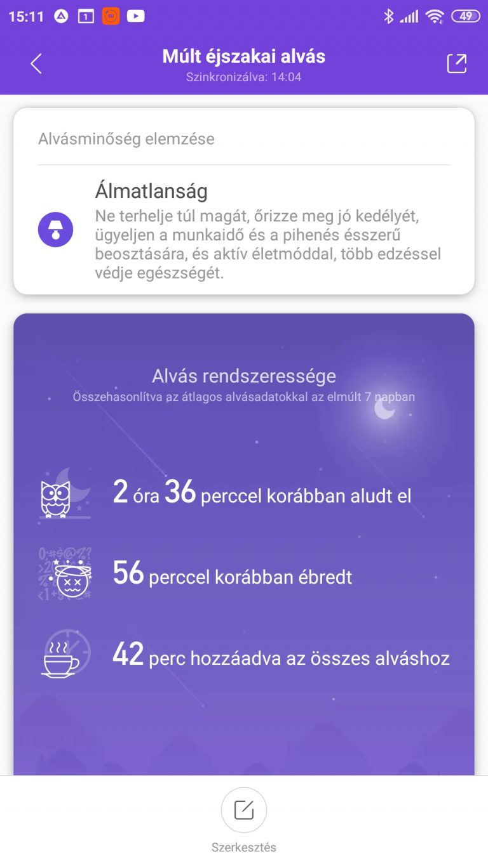 Xiaomi Mi Band 5 aktivitásmérő teszt 46
