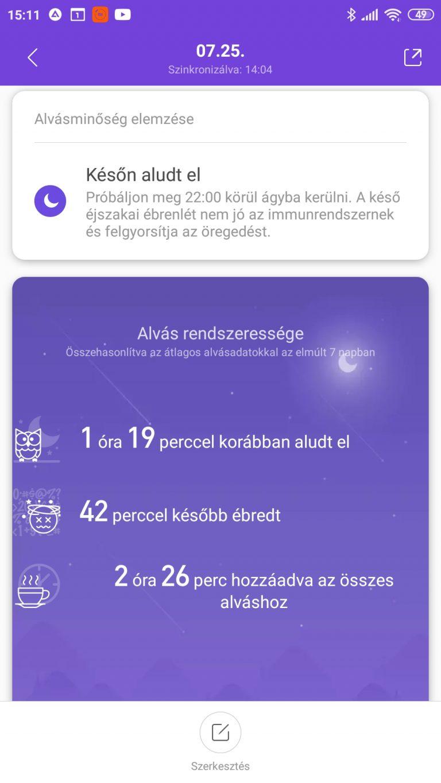 Xiaomi Mi Band 5 aktivitásmérő teszt 47