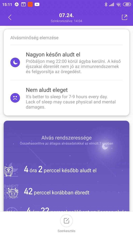 Xiaomi Mi Band 5 aktivitásmérő teszt 48