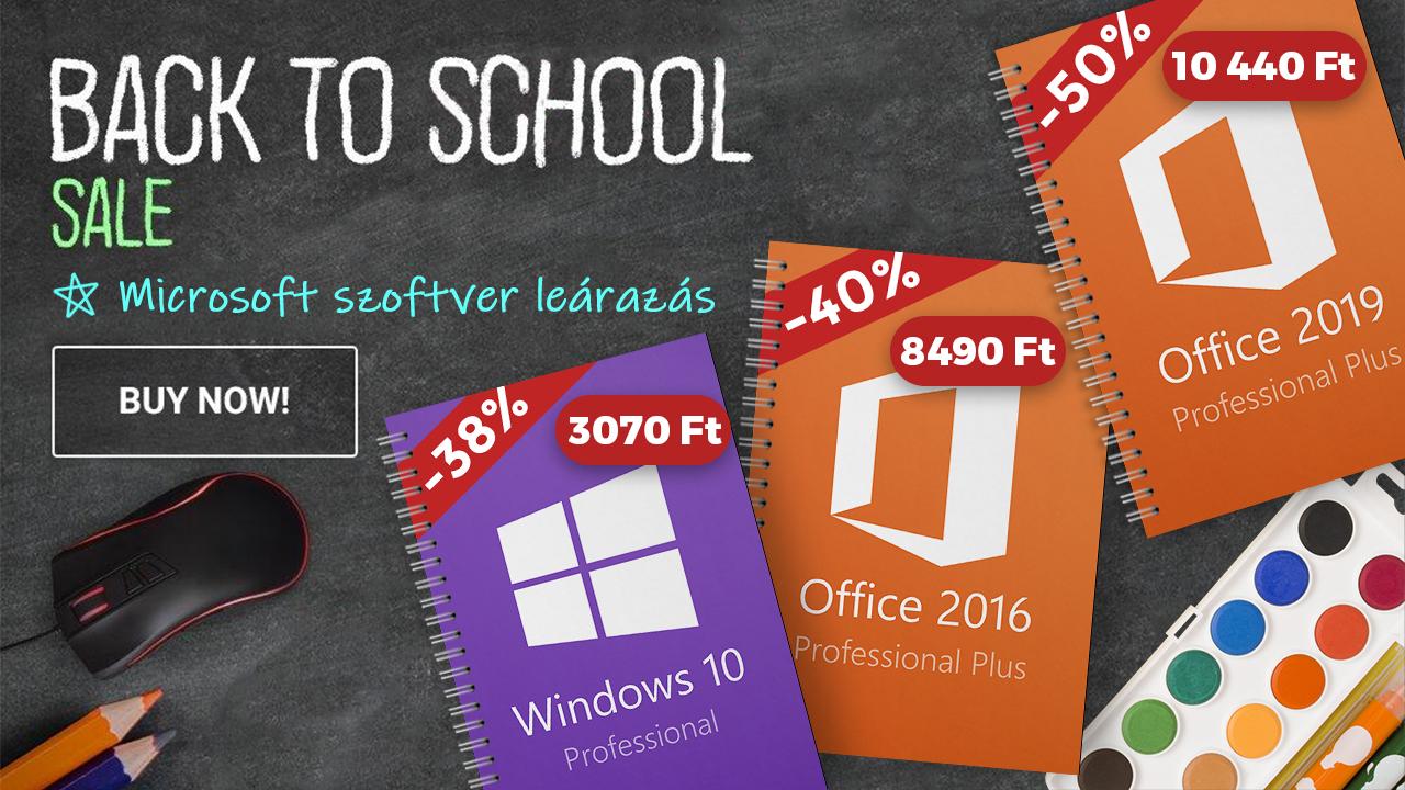 50% kedvezmény Windows 10-re és Office-ra 2