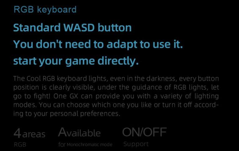 One Netbook OneGx1: izmos gamer gép a Geekbuyingtól 8
