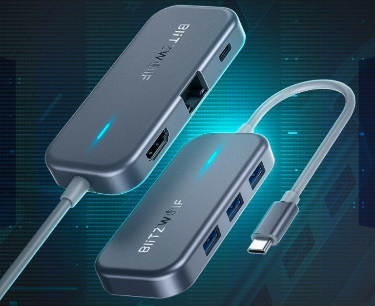Remek akcióban a BlitzWolf egyik többfunkciós USB hub-ja 8