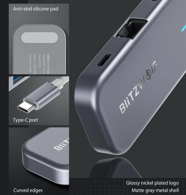 Remek akcióban a BlitzWolf egyik többfunkciós USB hub-ja 5