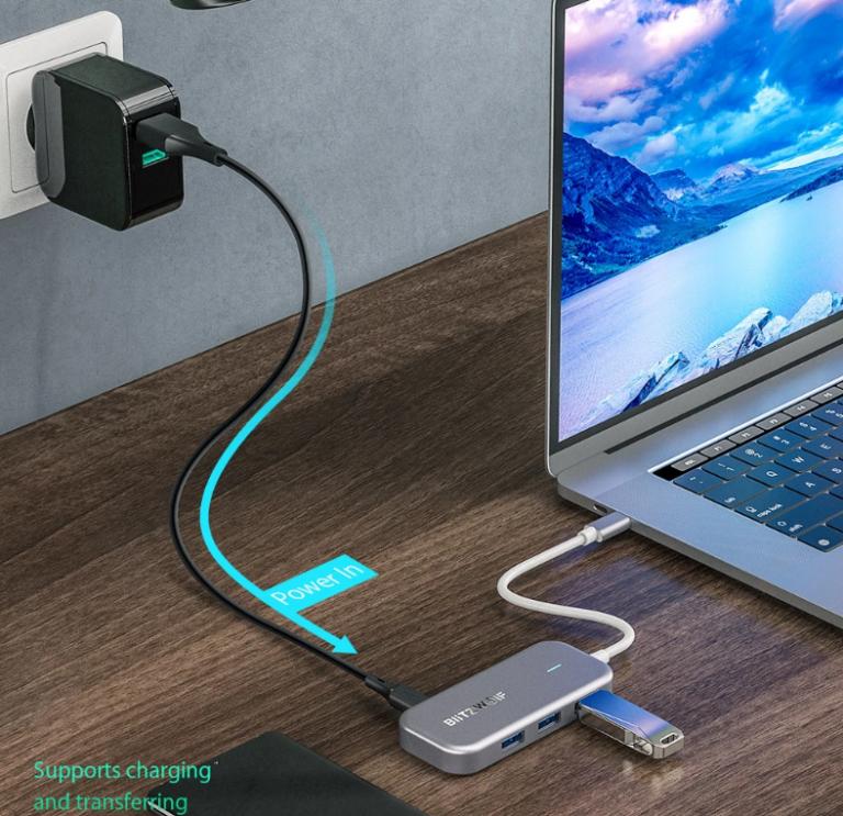 Remek akcióban a BlitzWolf egyik többfunkciós USB hub-ja 6