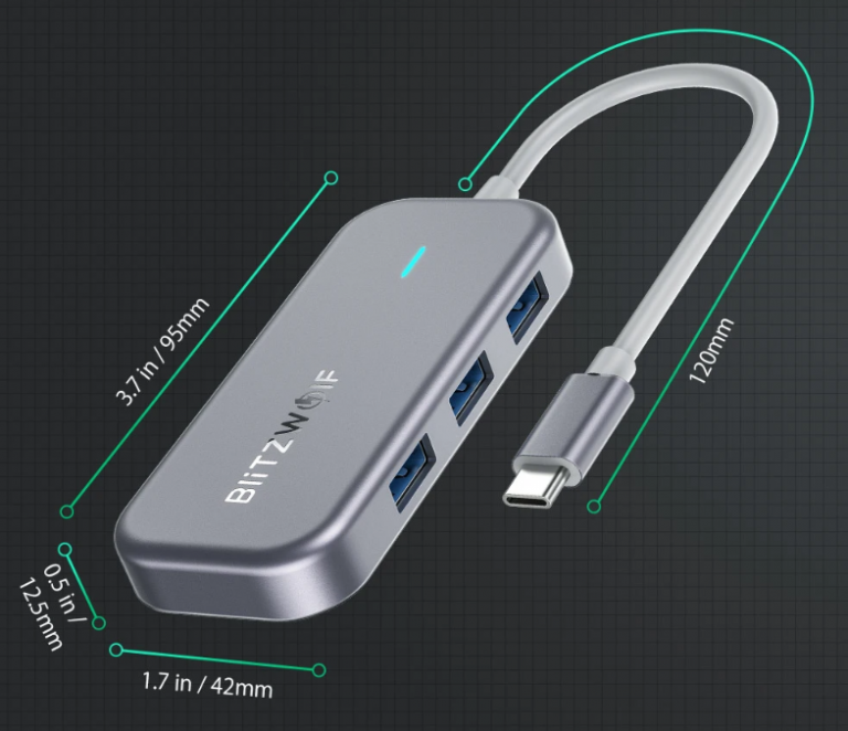 Remek akcióban a BlitzWolf egyik többfunkciós USB hub-ja 3