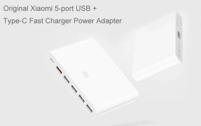 6 portos Xiaomi töltőállomás 6000 forint alatt 2