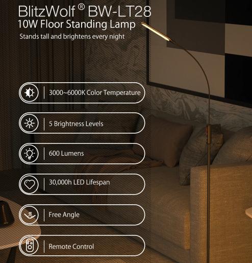 Jelentős kedvezménnyel vásárolhatunk BlitzWolf állólámpát 2