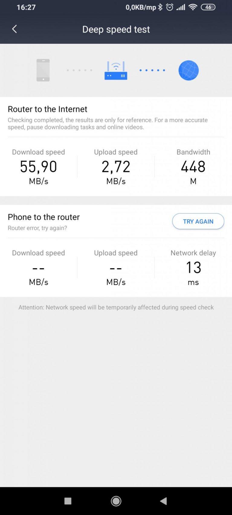 Xiaomi AX3600 router teszt 15