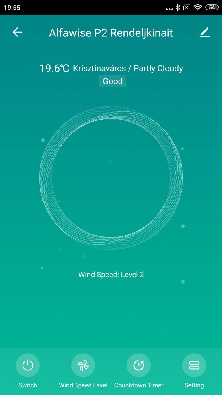 Alfawise P2 légtisztító teszt 13