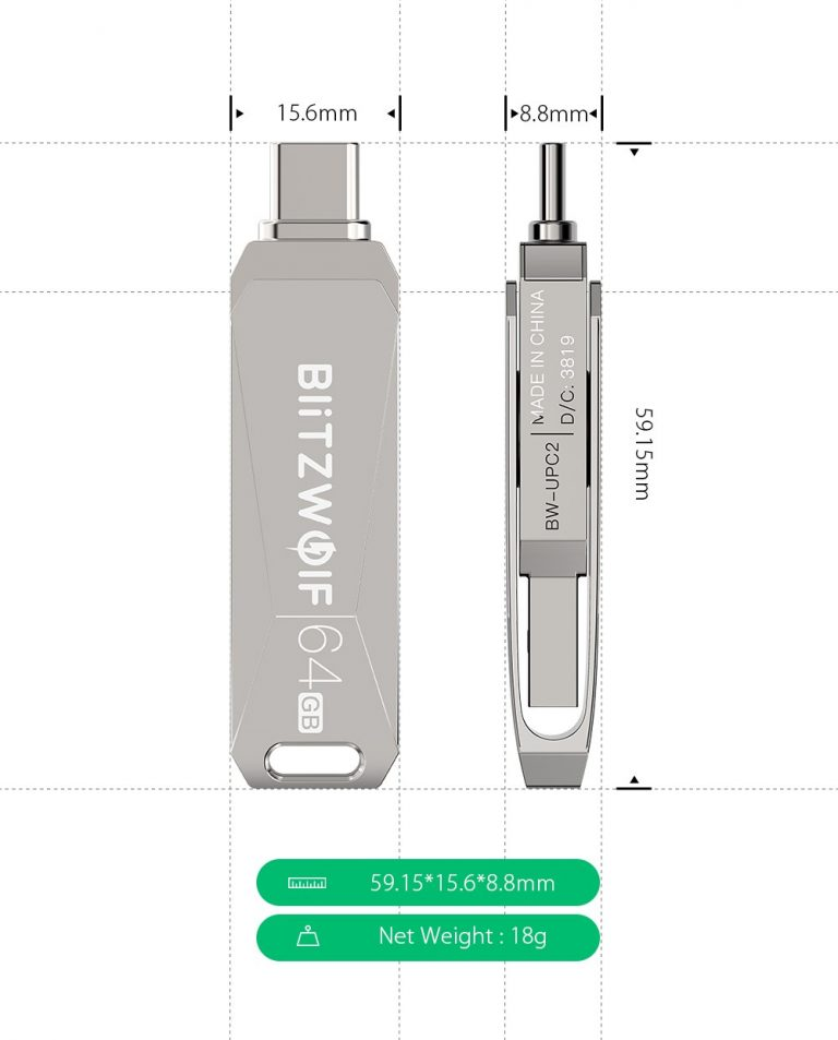Szuper olcsó BlitzWolf pendrive, egy kis extrával 4