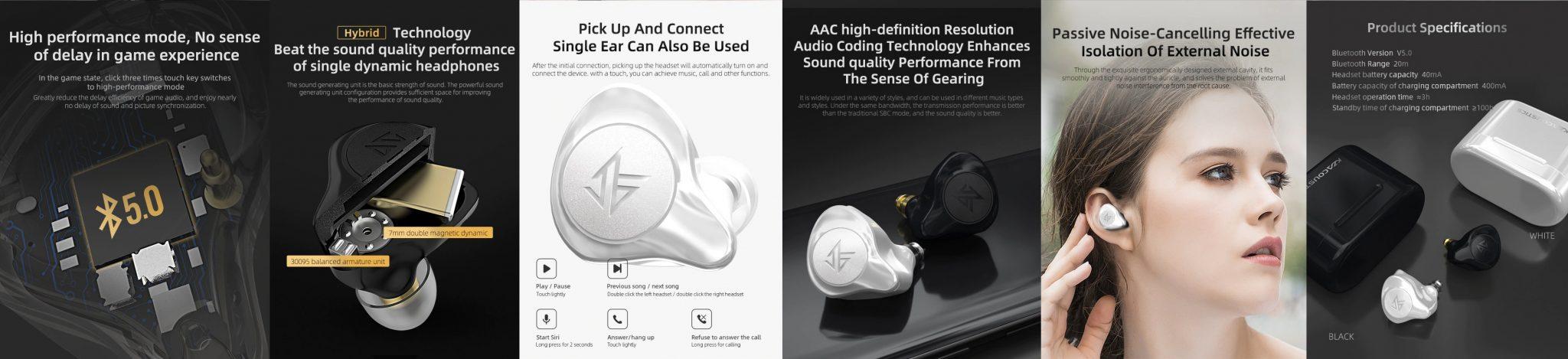 KZ S2 TWS fülhallgató teszt 10