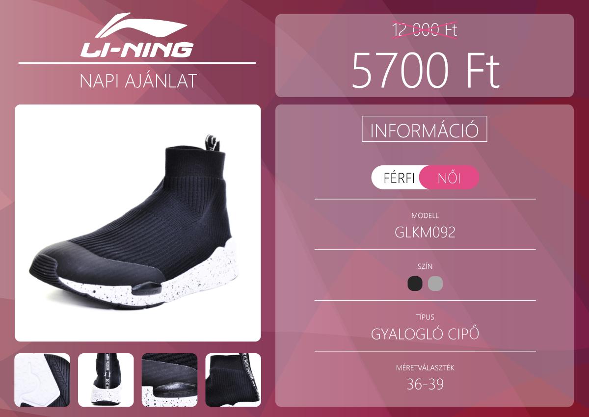 Női gyalogló cipő a Li-Ning napi ajánlatában 2
