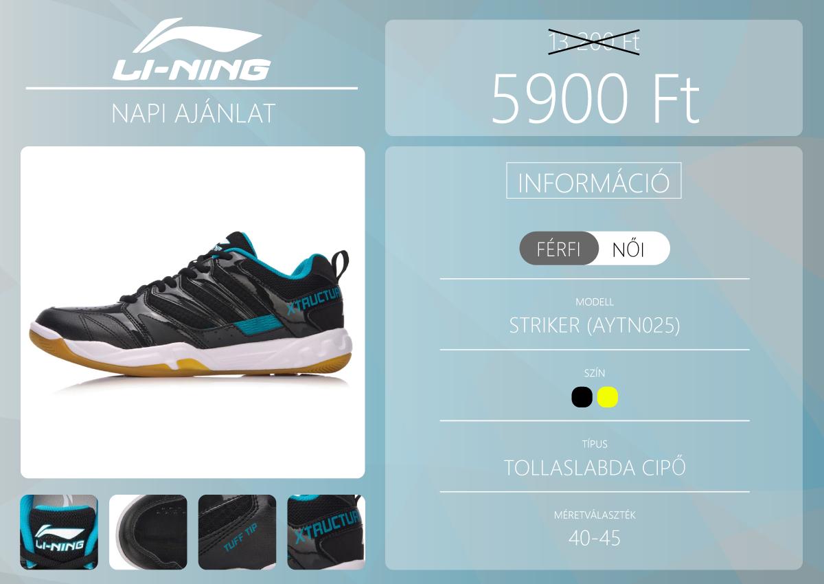 Li-Ning tollaslabda cipőt vehetünk a napi akcióban 2