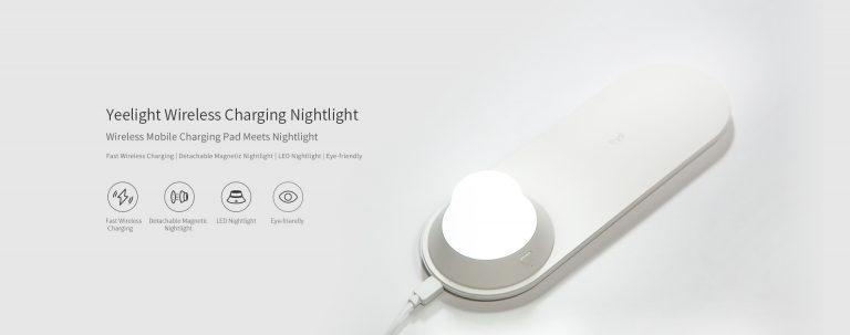 Olcsó Yeelight éjjeli lámpa, vezeték nélküli töltővel 2