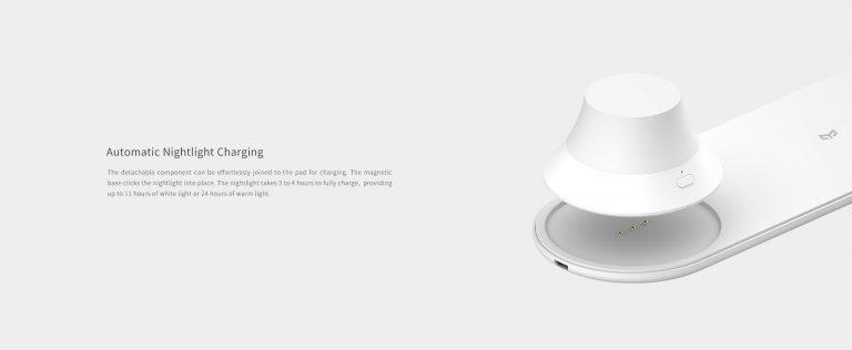 Olcsó Yeelight éjjeli lámpa, vezeték nélküli töltővel 6