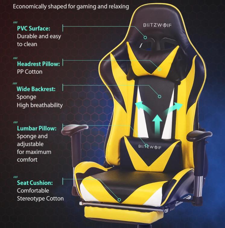 30 000 Forint alatt a BlitzWolf drágábbik gamer széke 9