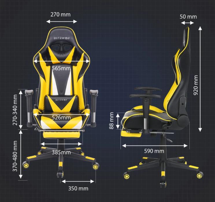 30 000 Forint alatt a BlitzWolf drágábbik gamer széke 11