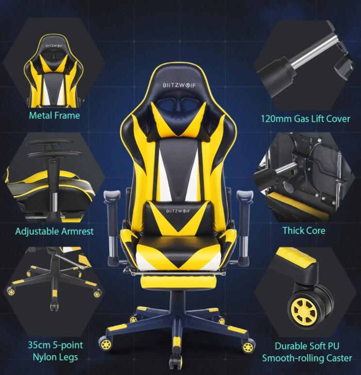 30 000 Forint alatt a BlitzWolf drágábbik gamer széke 10