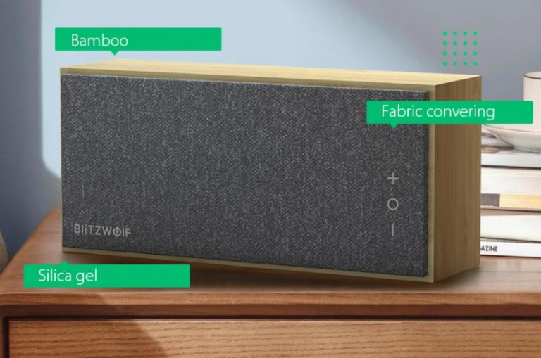Bambuszházas Bluetooth hangszórót mutatott be a BlitzWolf 4