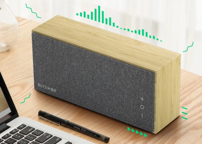 Bambuszházas Bluetooth hangszórót mutatott be a BlitzWolf 5