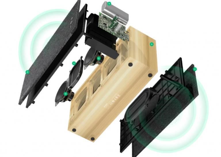 Bambuszházas Bluetooth hangszórót mutatott be a BlitzWolf 6