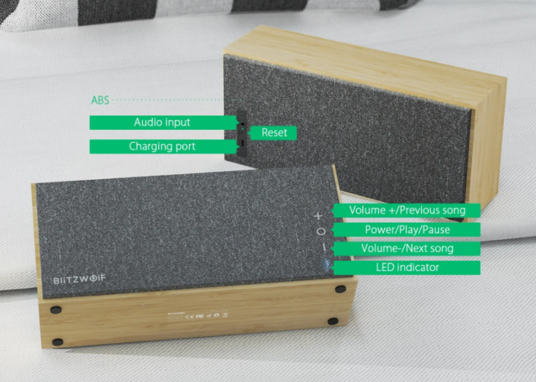 Bambuszházas Bluetooth hangszórót mutatott be a BlitzWolf 3
