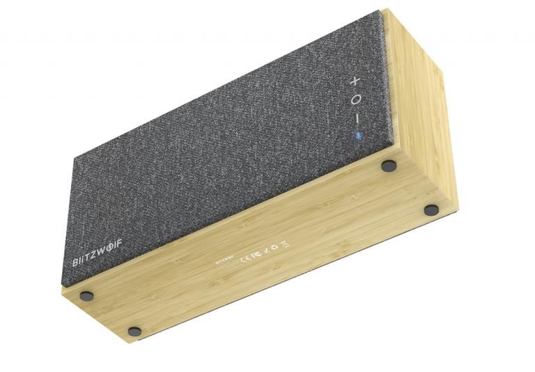 Bambuszházas Bluetooth hangszórót mutatott be a BlitzWolf 9