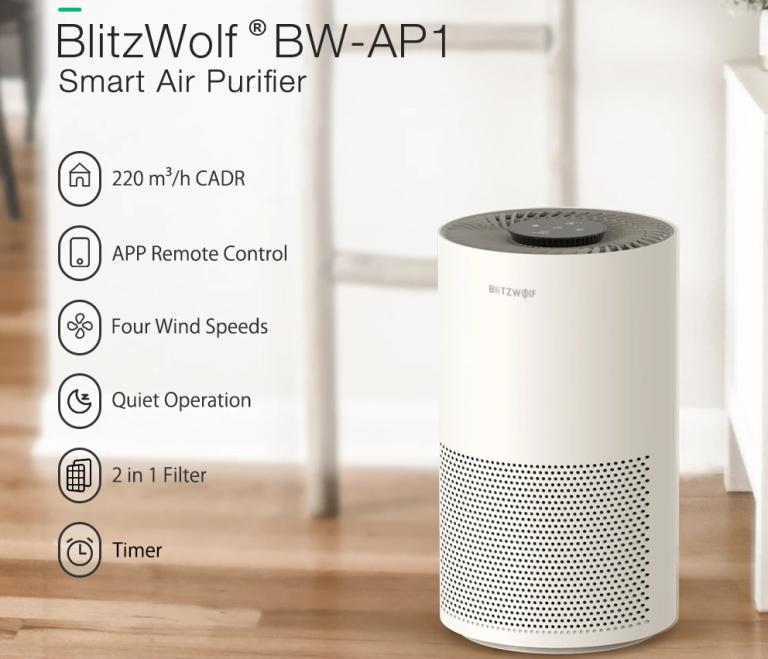 Kihívót kapnak a Xiaomi légtisztítók a BlitzWolftól 2