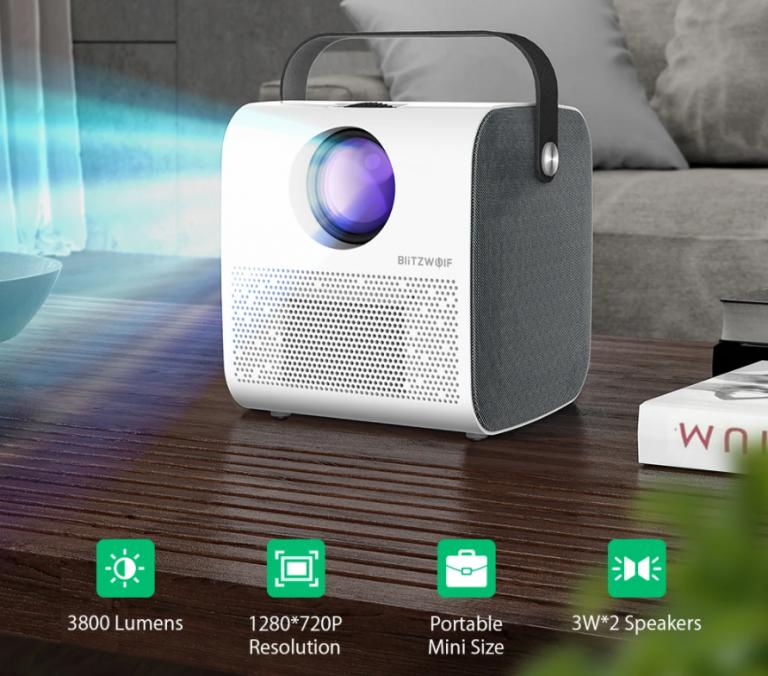 21 000 forintért vihető a BlitzWolf meccsnézős projektora 2