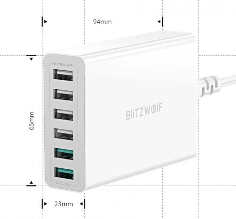 6 portos BlitzWolf töltő 6500-ért 5