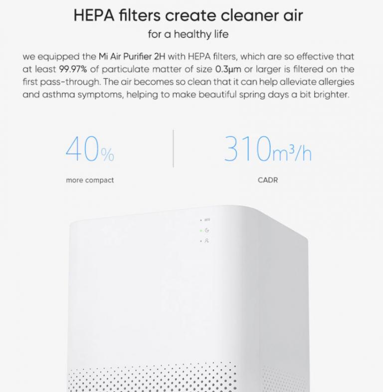 100 dollár alá kúszott a Xiaomi Air Purifier 2H ára 6
