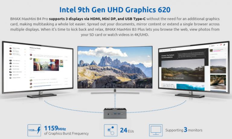 Intel Core i3-as mini PC, az itthoni ár feléért a Bmax-tól 8