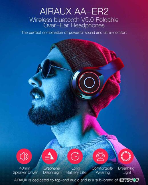 Újabb olcsó fejhallgató a BlitzWolftól – AIRAUX AA-ER2 2