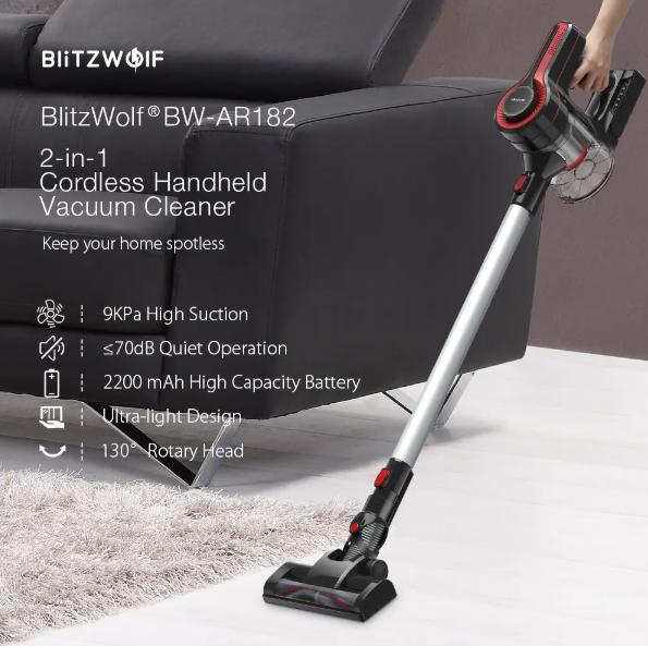 BlitzWolf akkus budget porszívó 25 000-ért 2