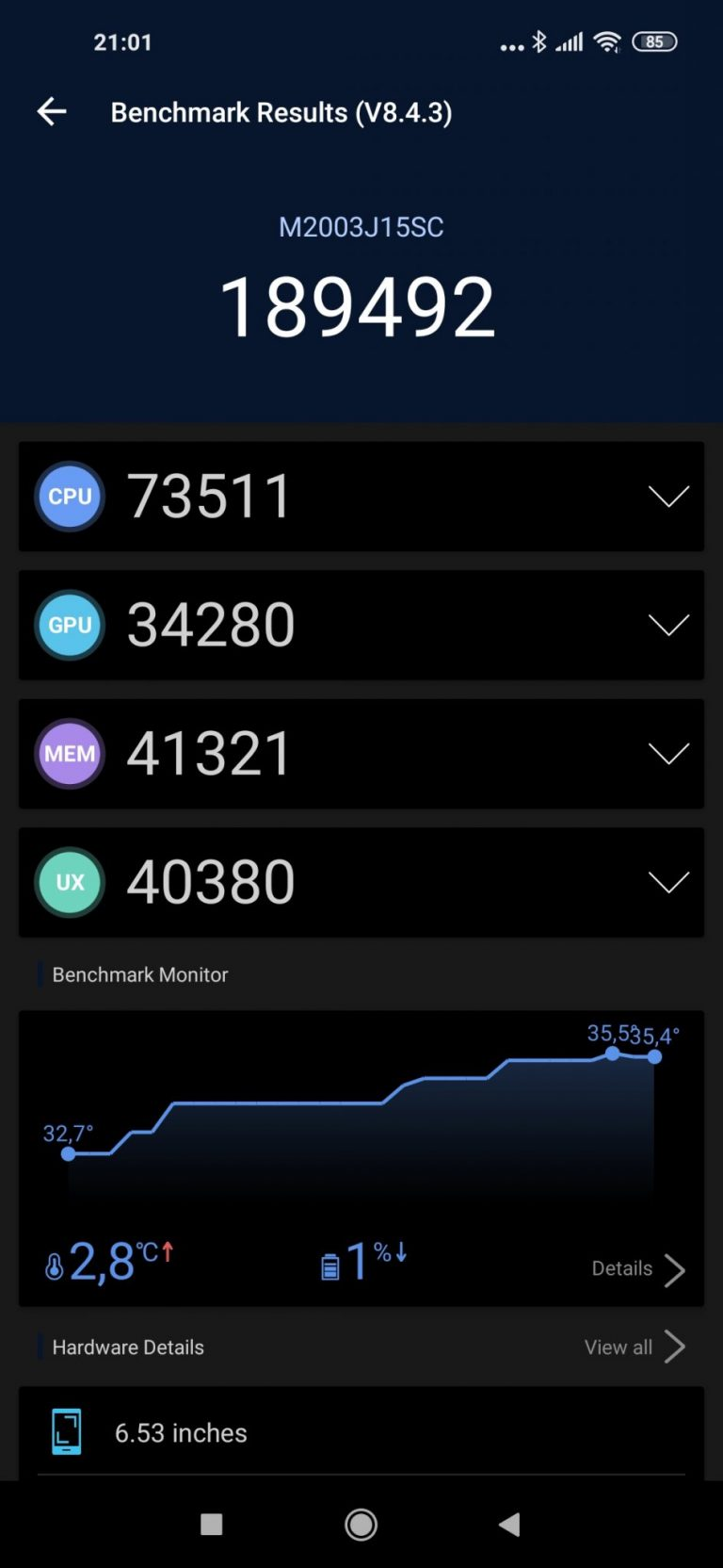 Redmi Note 9 okostelefon teszt 21