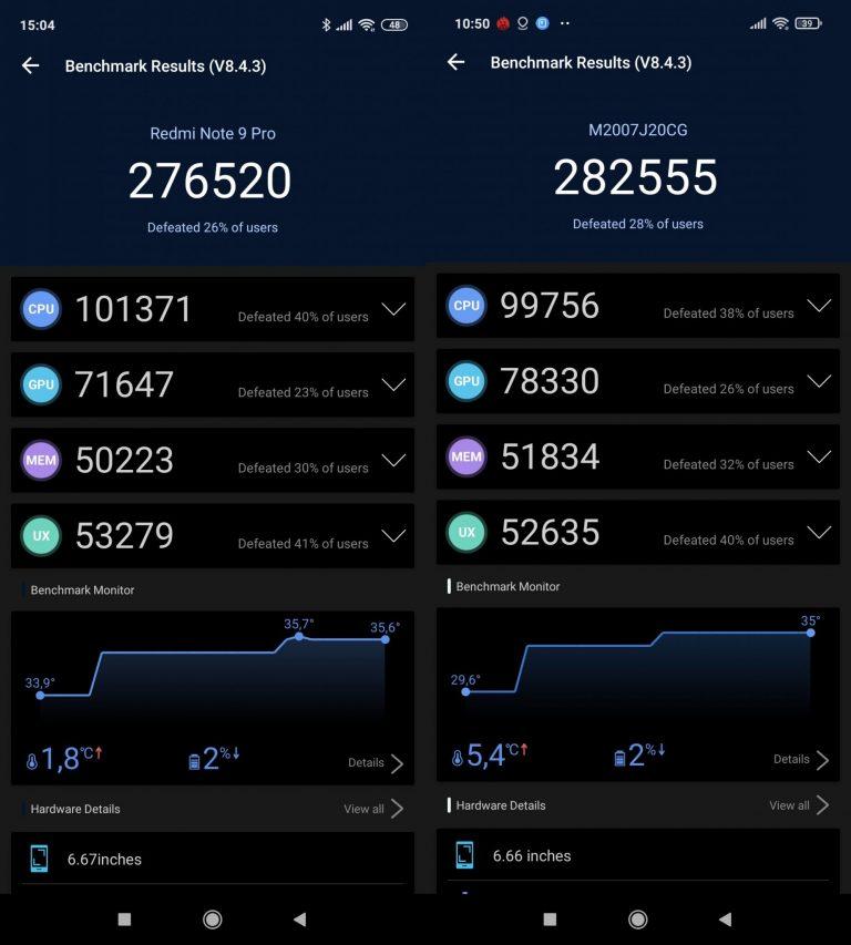 Redmi Note 9 Pro vs. Poco X3 összehasonlító teszt 11