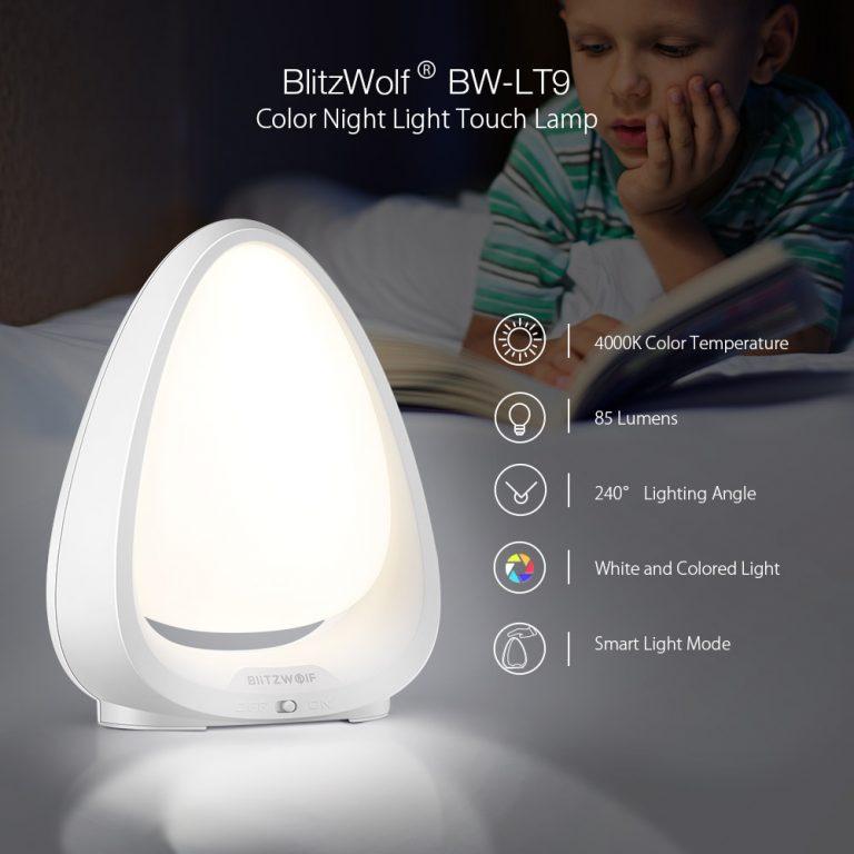 BlitzWolf BW-LT9 lámpa – olcsó éjjeli fény gyerekeknek 2