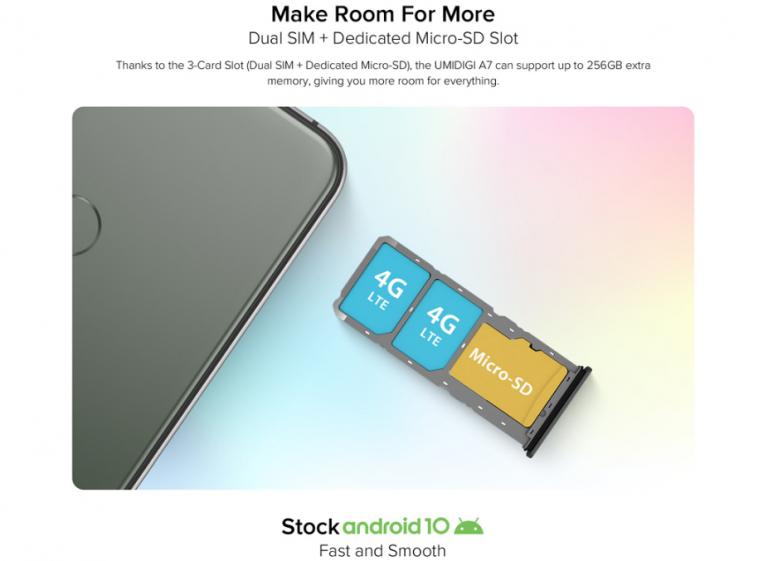 Előrendelhető az Umidigi A7 okostelefon 3