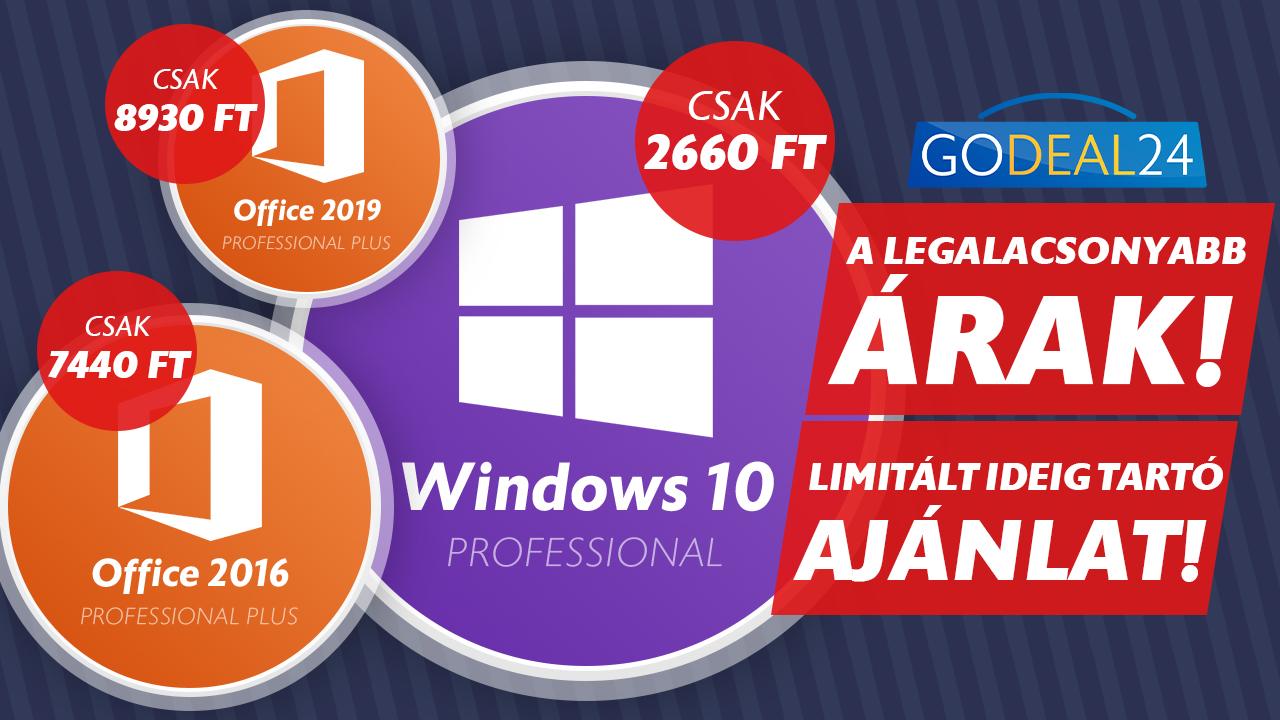 Már csak 2660 forint a Windows 10 2